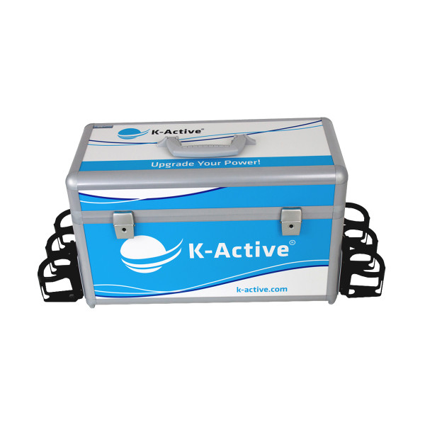 K-Active® Sportkoffer Profi inkl. 6 Trinkflaschen