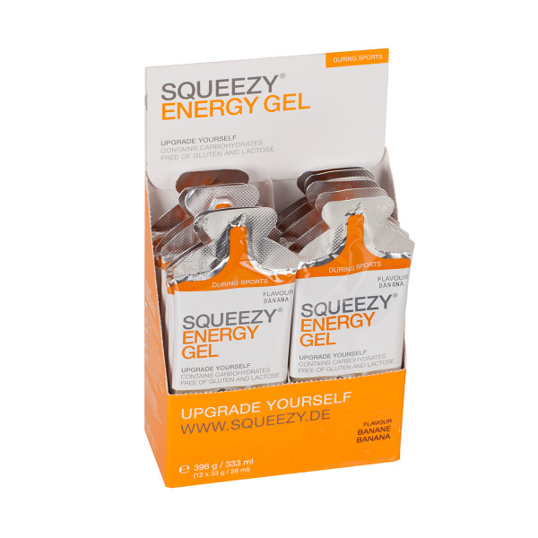 Squeezy Energy Gel Box 12 sachets of 33 g